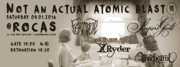 not an actual atomic blast